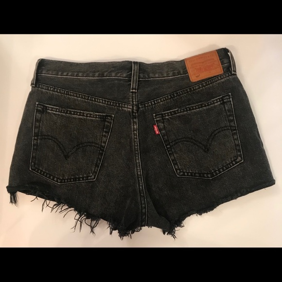 Vintage Levi's 501 Black Cut Off Shorts Big E Tag